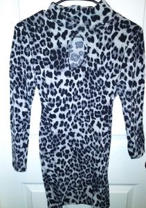 Black and white Leopard Dress